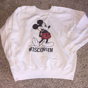 Vintage Wisconsin Mickey Mouse Sweatshirt